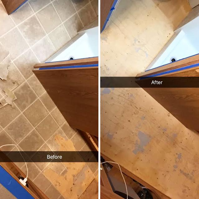 before and after laminate